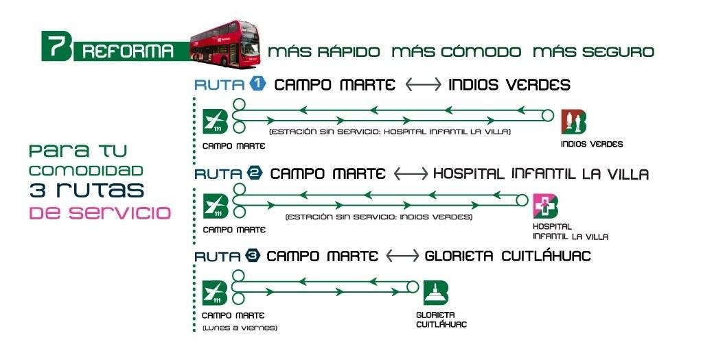 Inicia servicio Línea 7 del Metrobús en Reforma