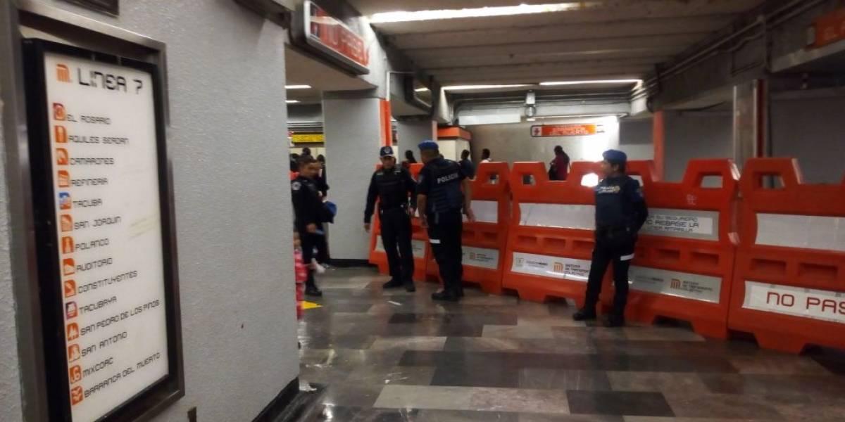 Detienen a sujeto por golpear a su pareja en Metro Tacuba