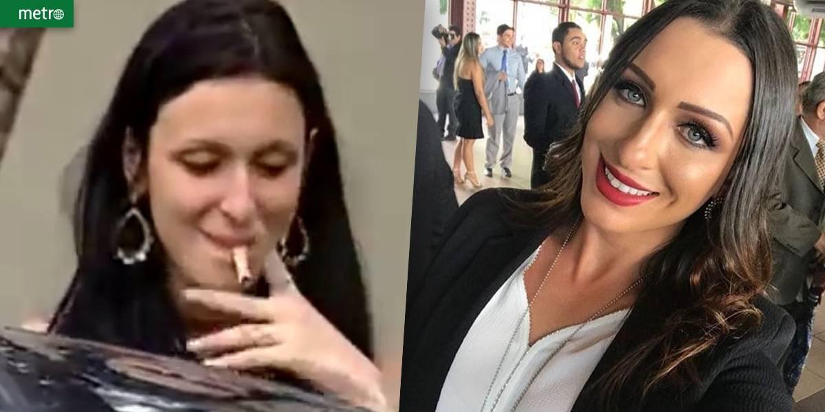 Jovem que tentou fumar nota de R$ 50 vira delegada e internet vai à loucura