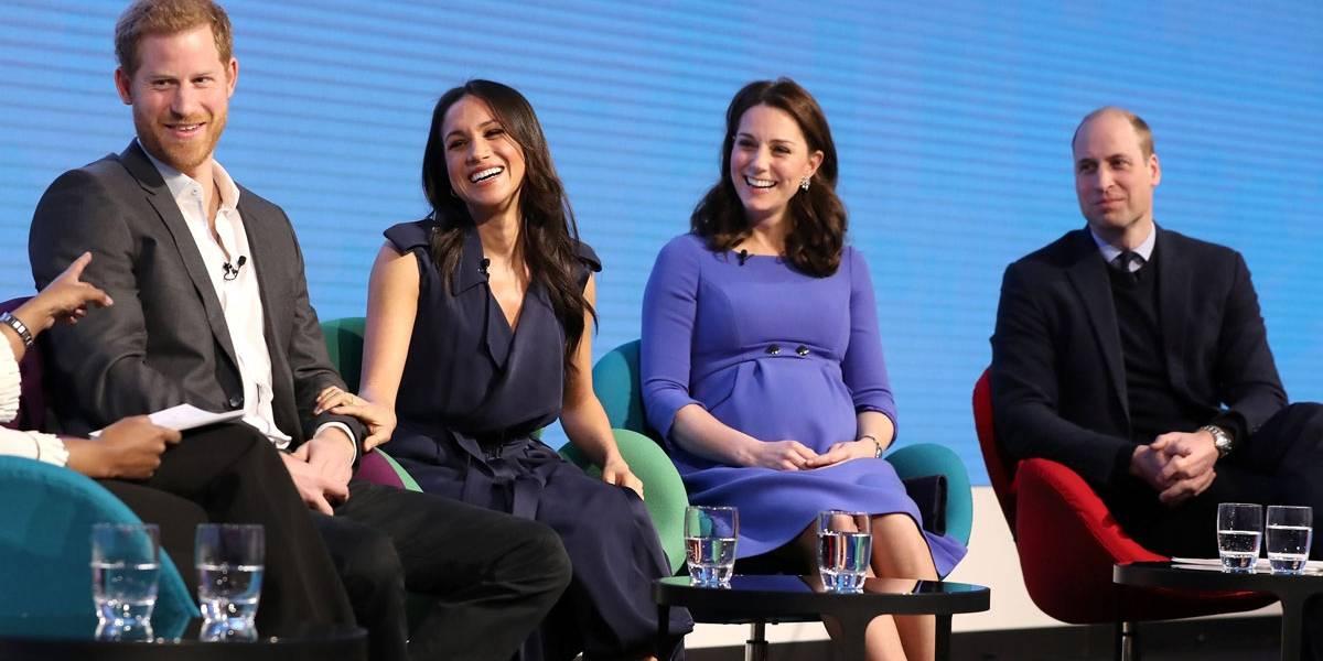 Meghan Markle e Kate Middleton se reúnem em primeiro evento oficial junto com príncipes