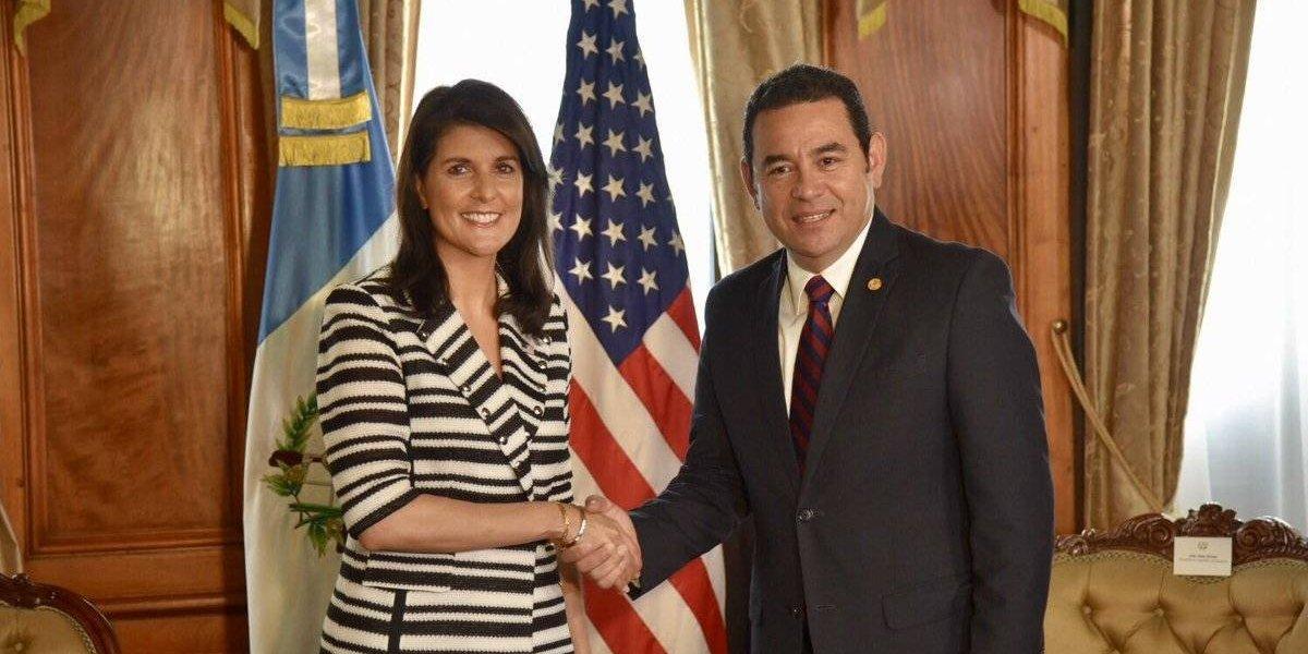 Embajadora de EE. UU. ante ONU aseguró a Morales que Washington apoya al jefe de CICIG