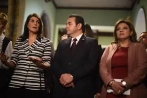 Reunión Jimmy Morales y Nikky Haley