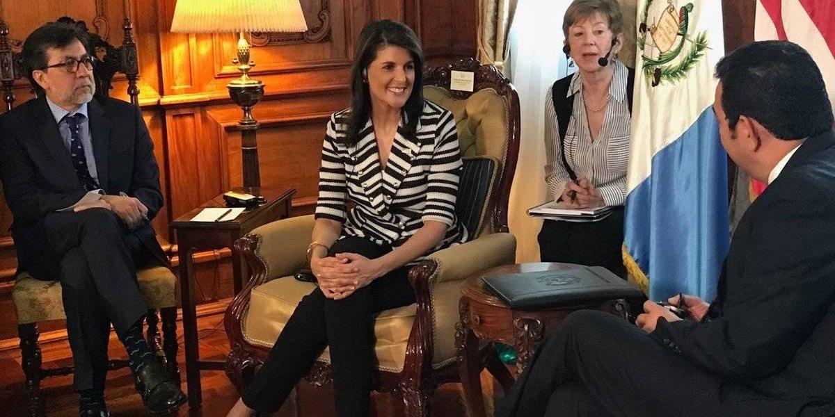Presidente Jimmy Morales se reúne con embajadora ante la ONU Nikki Haley