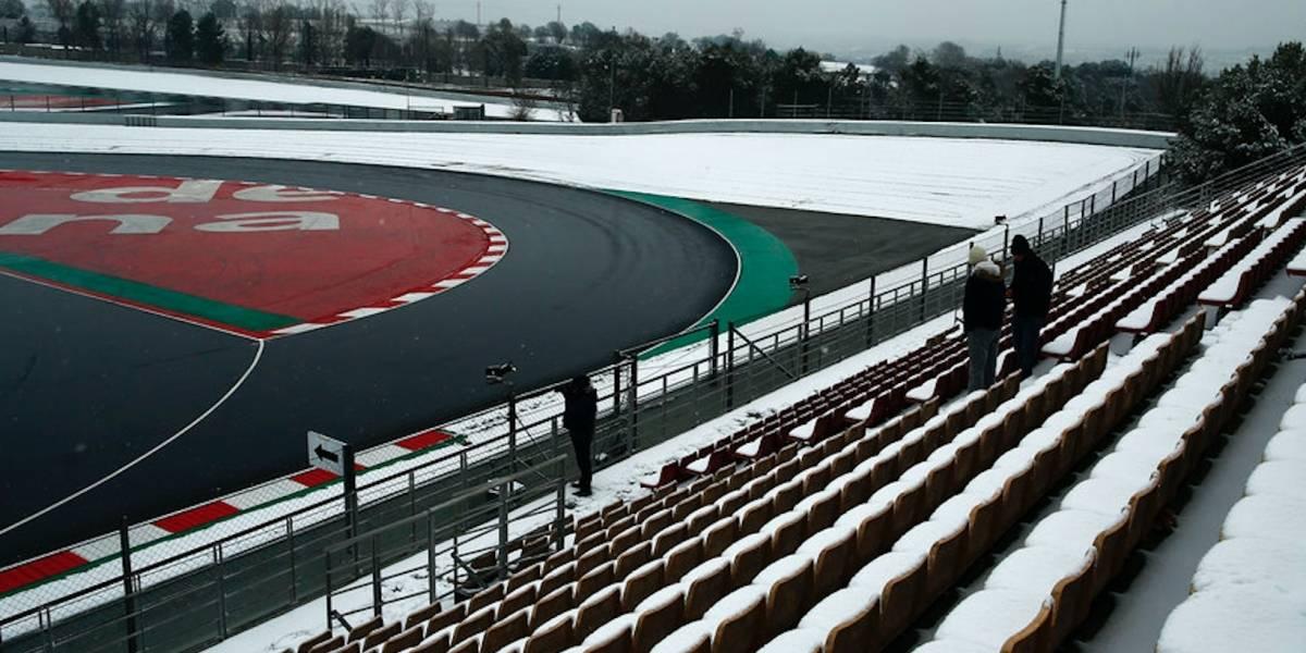 Nevada retrasa los entrenamientos de F1 en España
