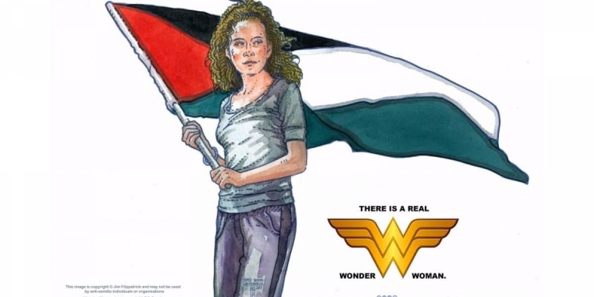 ¿La verdadera Mujer Maravilla?: El autor del póster del Che quiere reivindicar la imagen de la resistencia palestina
