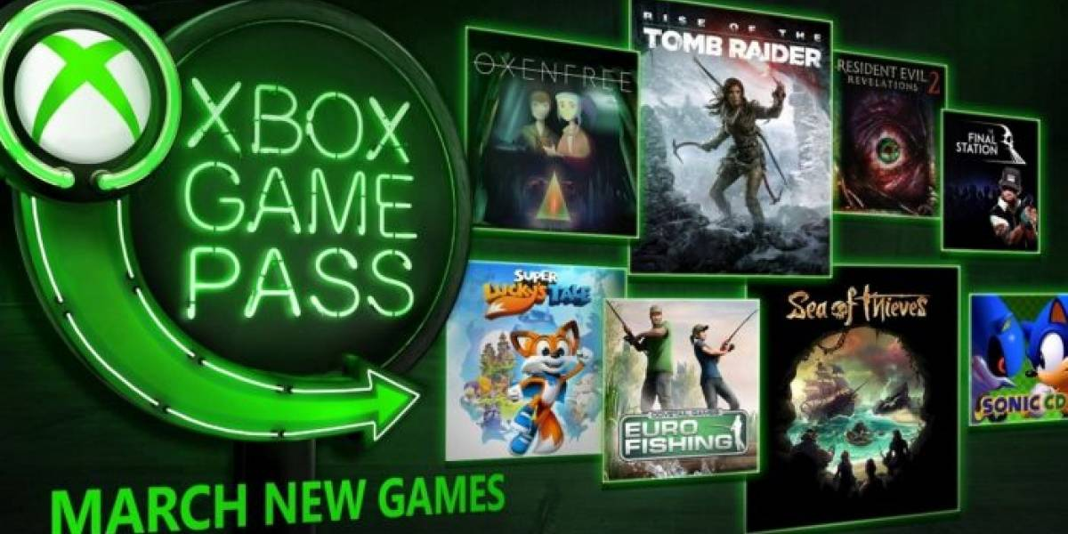 Xbox Game Pass agregará Sea of Thieves, Rise of the Tomb Raider y más