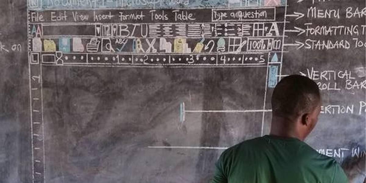 O professor que viralizou com aula de computação sem computador e chamou atenção da Microsoft