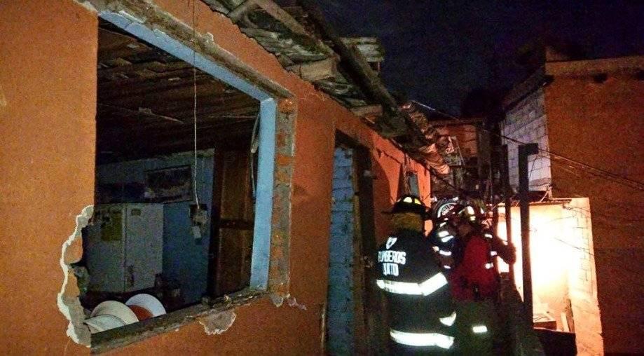 Colapso de vivienda en Pifo