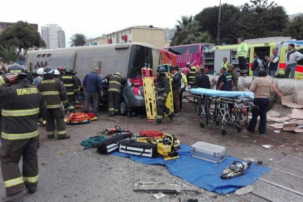 Accidente en Valparaíso