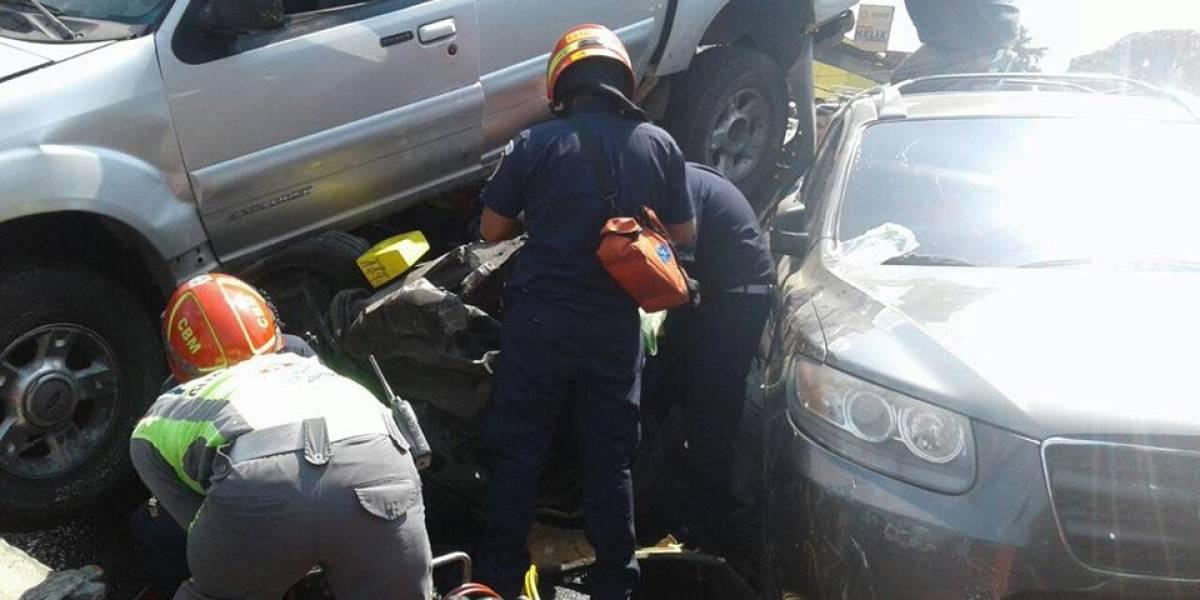 Video. Múltiple colisión en la ruta Interamericana deja varios muertos y heridos