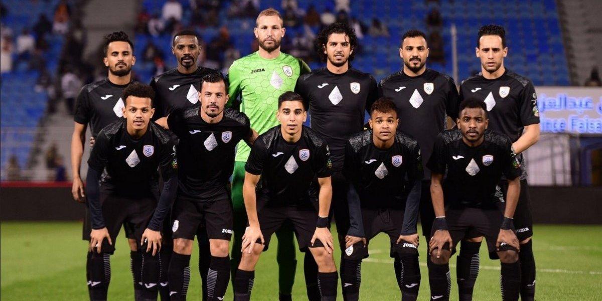 Ubilla no tuvo piedad con Sierra: marcó dos goles en triunfo del Al Shabab sobre Al Ittihad