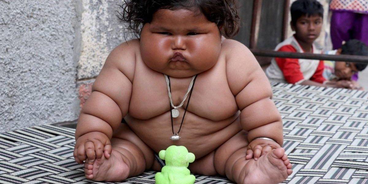 Conheça Chahat Kumar, a bebê mais gorda do mundo