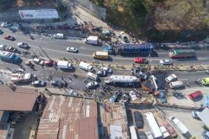 Fotos aéreas accidente ruta interamericana
