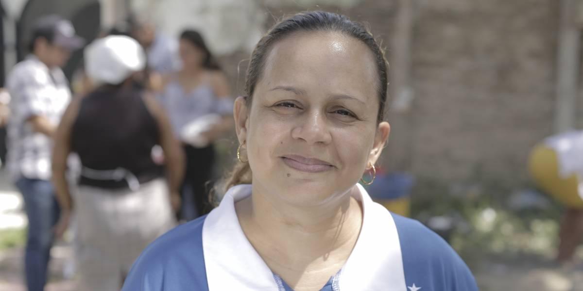 Mayerlis Angarita, la primera líder social en ganar el premio Anne Klein, en Alemania