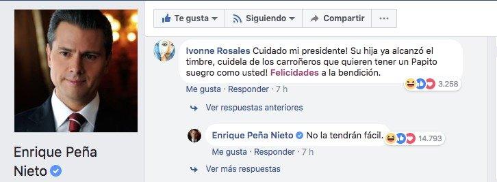 Comentario de Enrique Peña Nieto