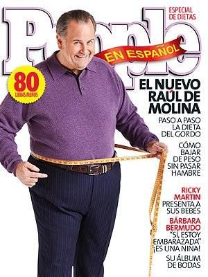 Raúl de Molina baja de peso