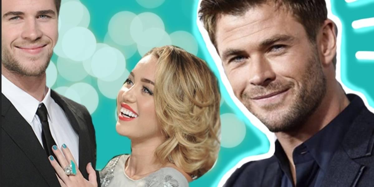 Chris Hemsworth se sincera respecto a lo que es tener a Miley Cyrus como parte de la familia