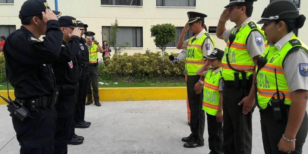 Policía Nacional Ecuatoriana celebra 80 años de profesionalización