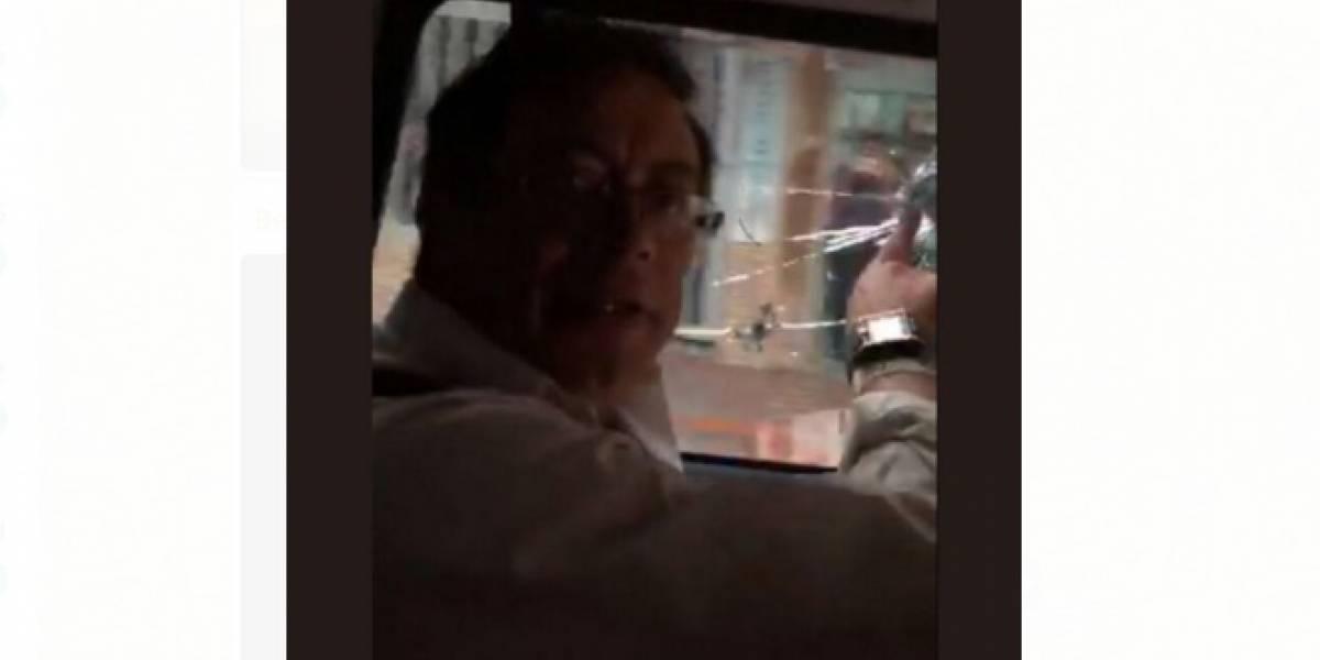 El video que demostraría que hubo disparos contra la caravana de Gustavo Petro