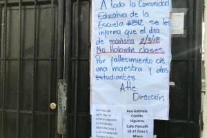escuela de niños fallecidos en accidente en ruta Interamericana