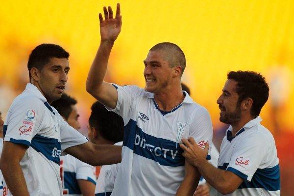 Francisco Sierralta celebrando un gol que le convirtió a Palestino por la liguilla del Apertura 2015-2016 / Foto: Photosport