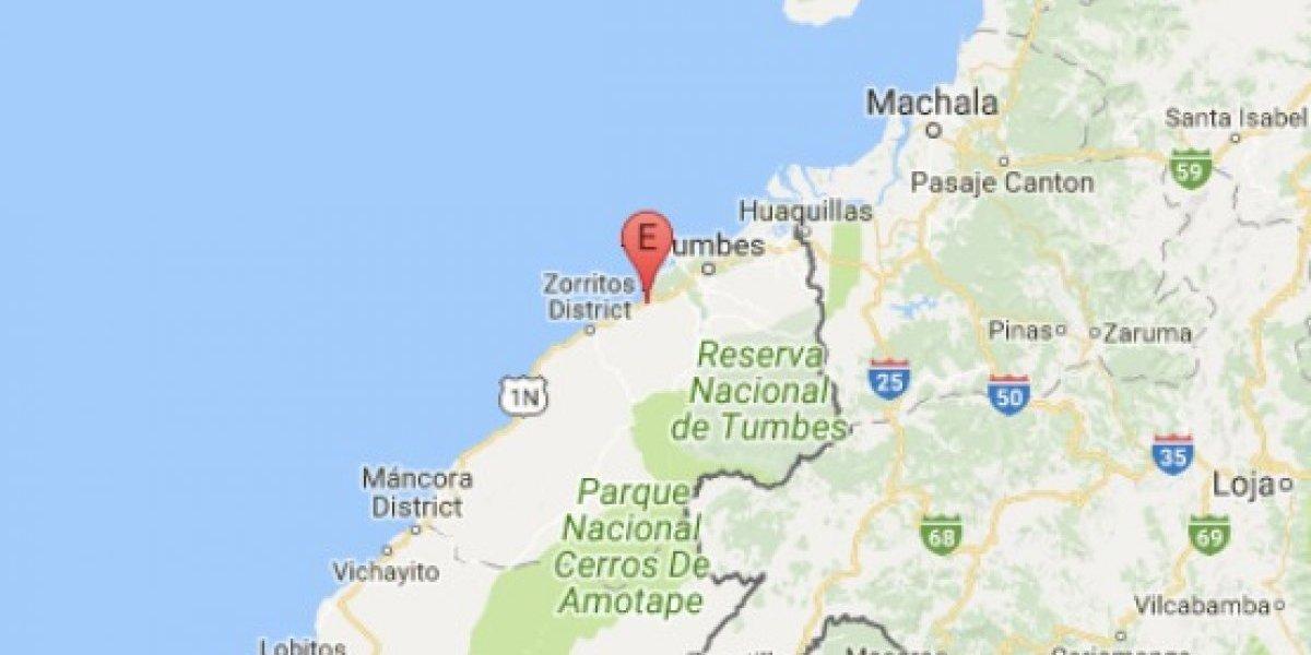 Sismo de magnitud 3.9 en Huaquillas, El Oro