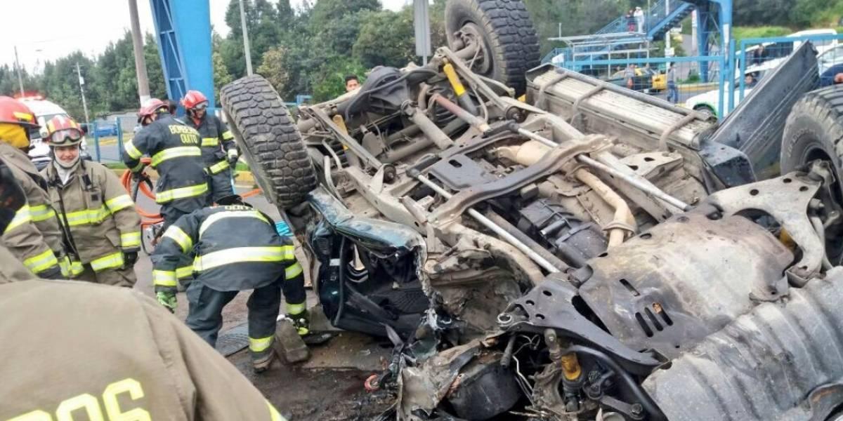 Se reporta accidente de tránsito en la Autopista General Rumiñahui