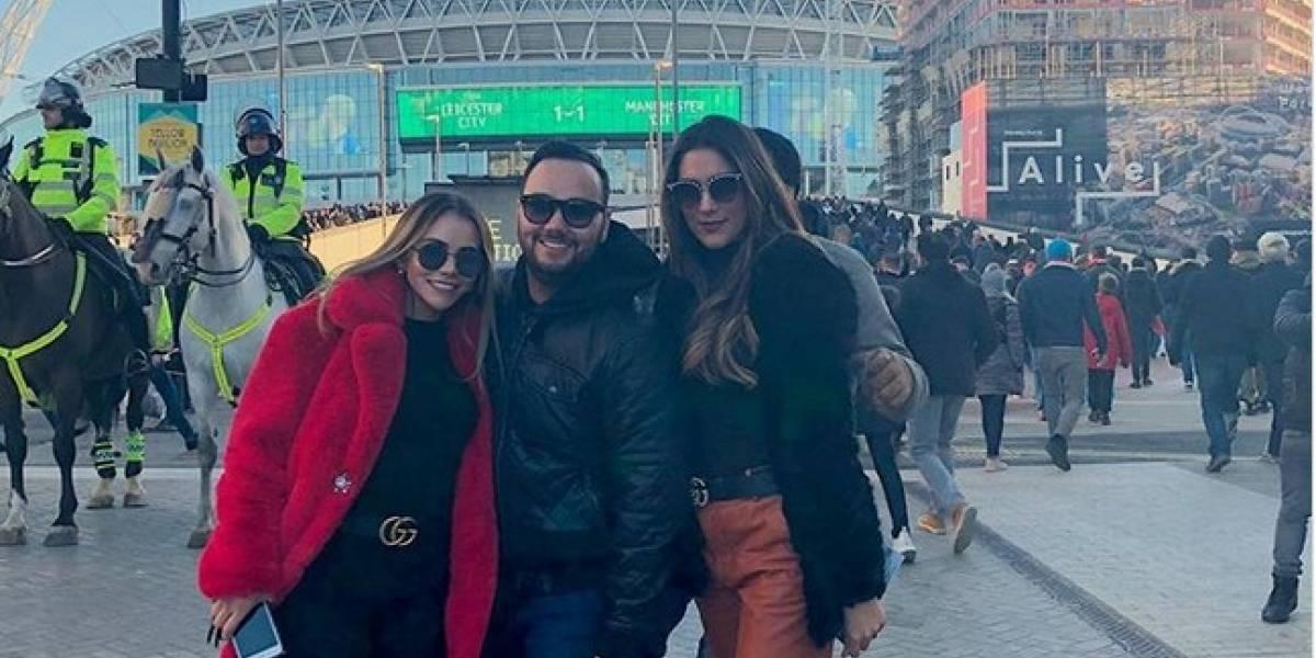 """Daniela Ospina y James Rodríguez, """"muy junticos"""" en Londres"""