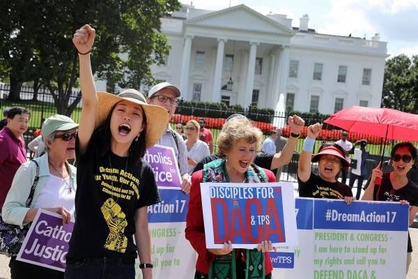 Dreamers, DACA, Manifestación