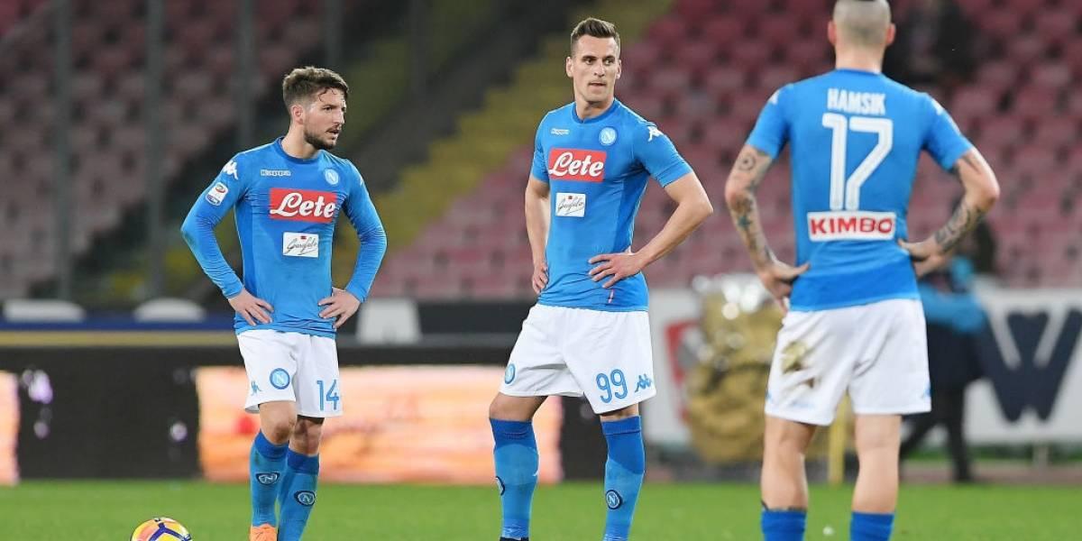 Napoli pierde con Roma y ve peligrar el sueño de conquistar el Scudetto