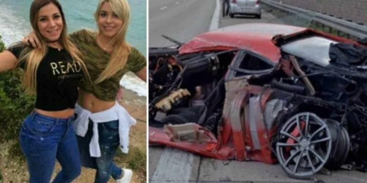 Prestó un Ferrari, lo chocó y escapó abandonando a sus acompañantes en el auto en llamas