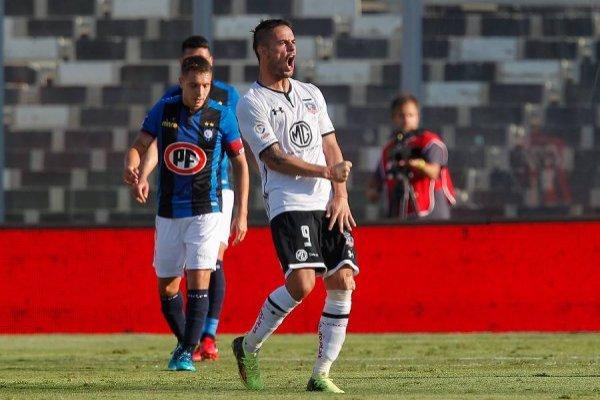 Octavio Rivero marcó sus primeros dos goles oficiales del año ante Huachipato / Foto: Photosport