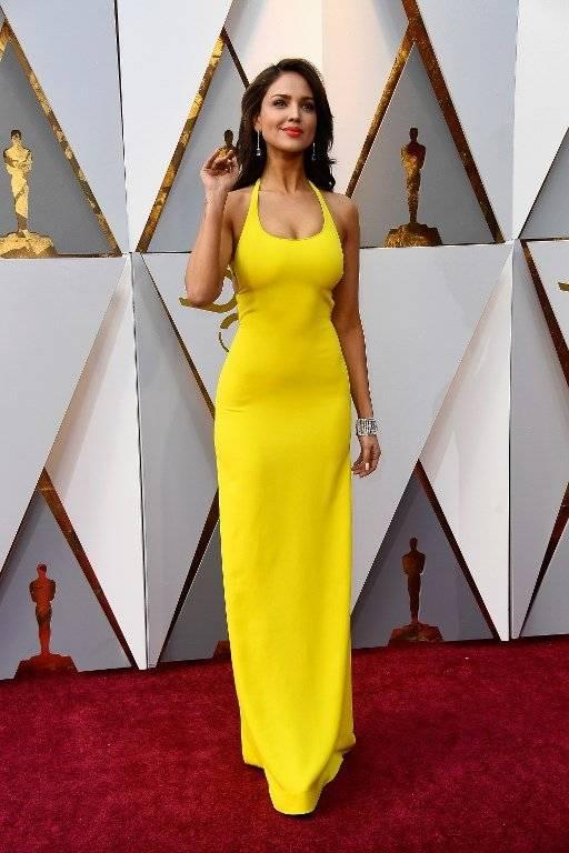 Eiza González, Oscar 2018 Fotos: AFP