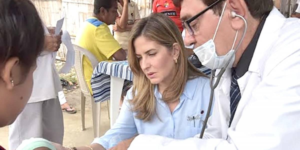 Vicealcaldesa Doménica Tabacchi donó medicamentos