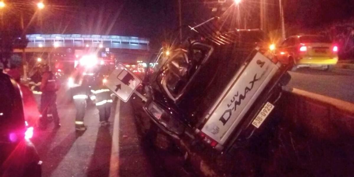 Un herido tras accidente de tránsito en la Autopista General Rumiñahui