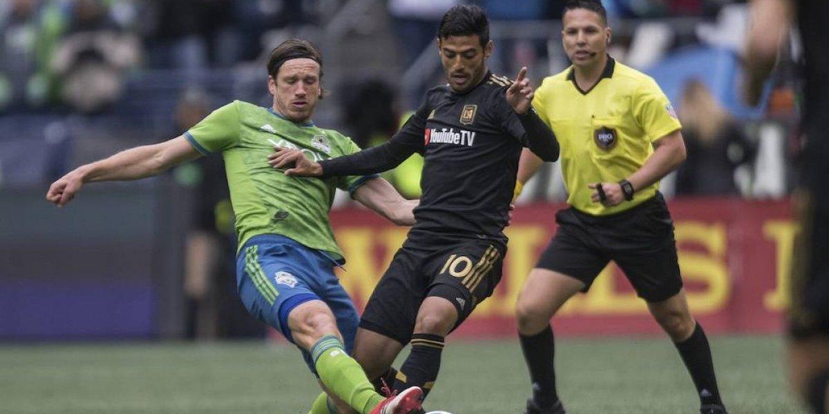 Carlos Vela pone el pase del primer gol en la historia de Los Ángeles FC