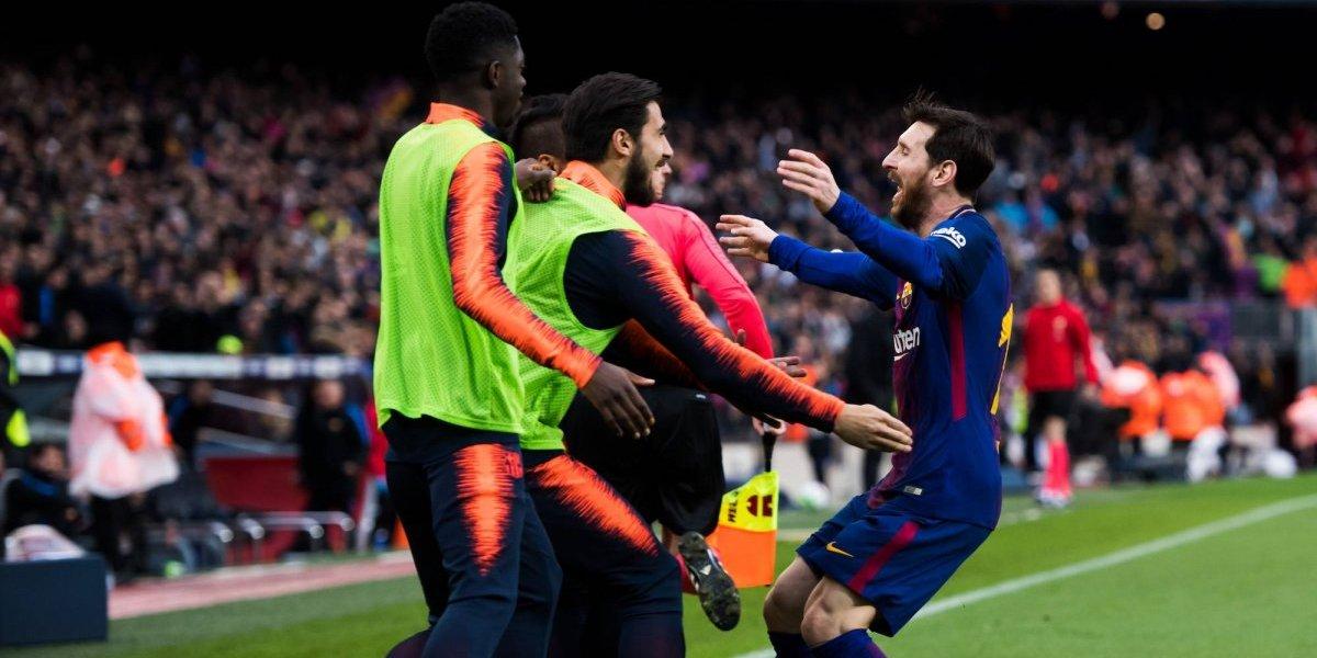 Messi le da la victoria al Barcelona