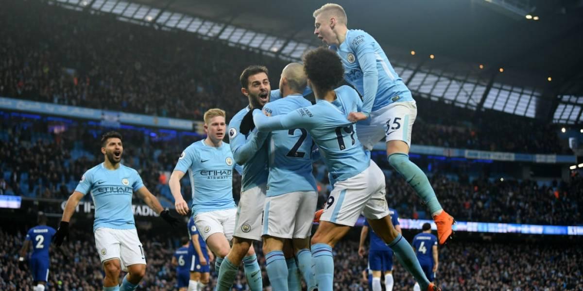 El City bajó al Chelsea y ya se prueba la corona de la Premier League