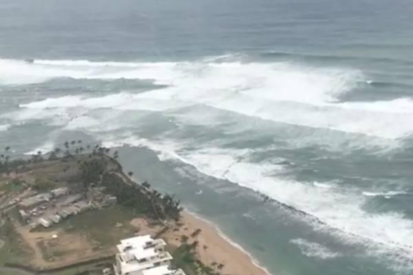 Marejada en el sur de Puerto Rico