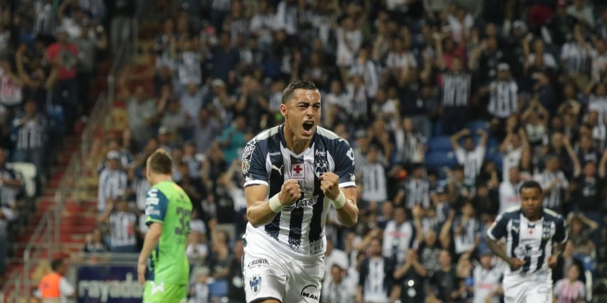 Funes Mori cerca del top 5 de goleadores de Rayados