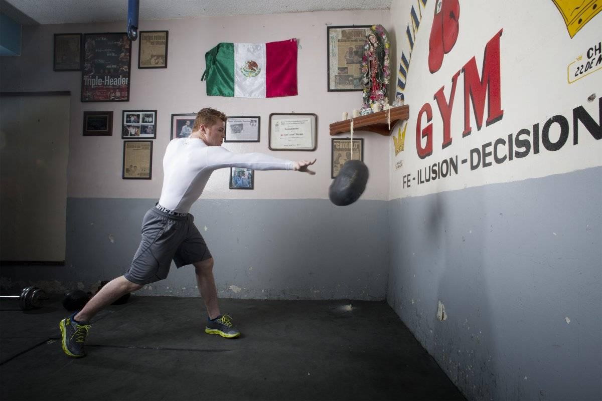Saúl Álvarez no deja de prepararse para la pelea del 5 de mayo