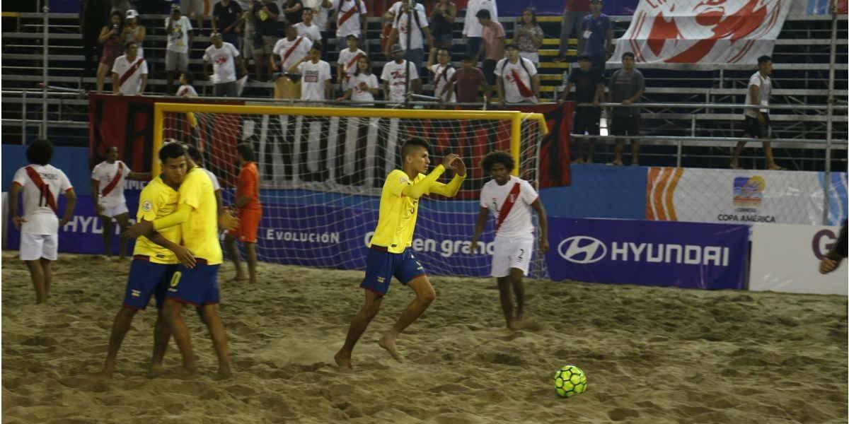 Ecuador gana en su estreno en la Copa América de Fútbol Playa Perú 2018