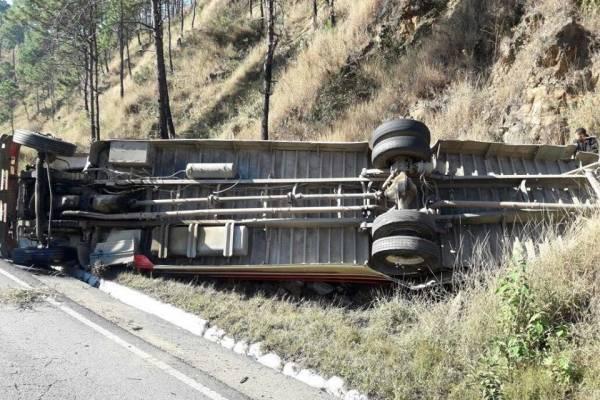 accidente de bus en ruta a Las Verapaces