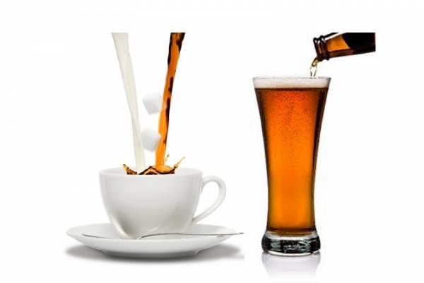 Cafe, cerveza y vino