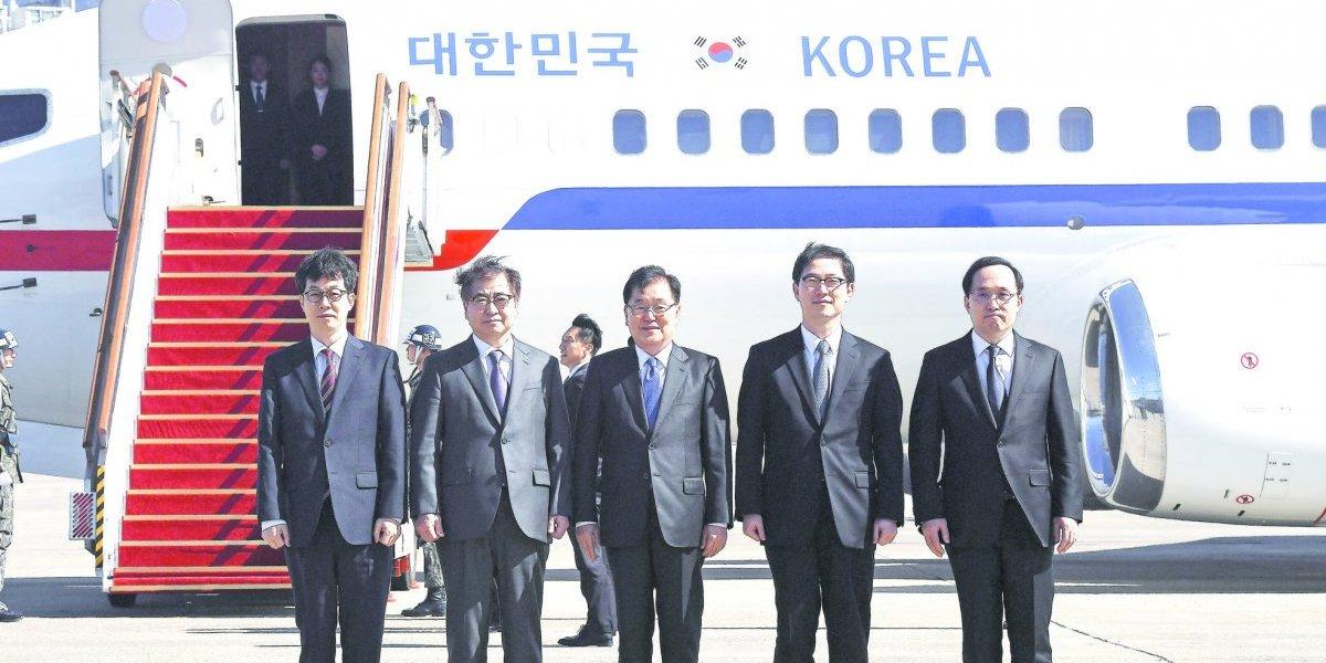 Histórico: Kim Jong-un recibe a autoridades del Sur