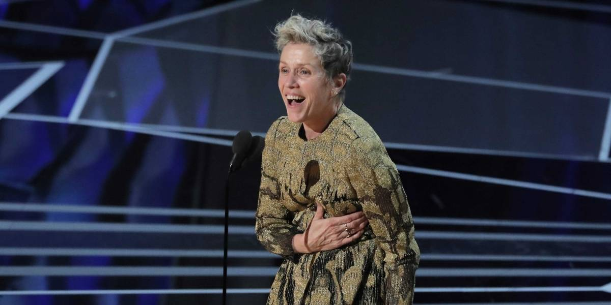 Entenda o discurso de Frances McDormand no Oscar 2018