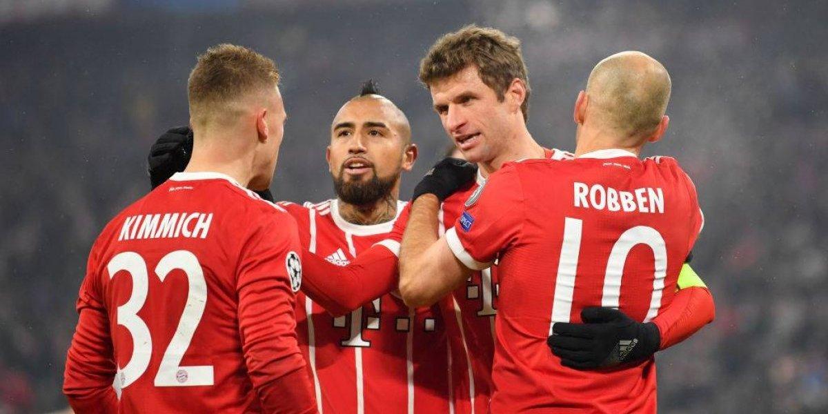 El Bayern de Vidal puede ser hexacampeón de la Bundesliga si gana 3 de los últimos 9 partidos