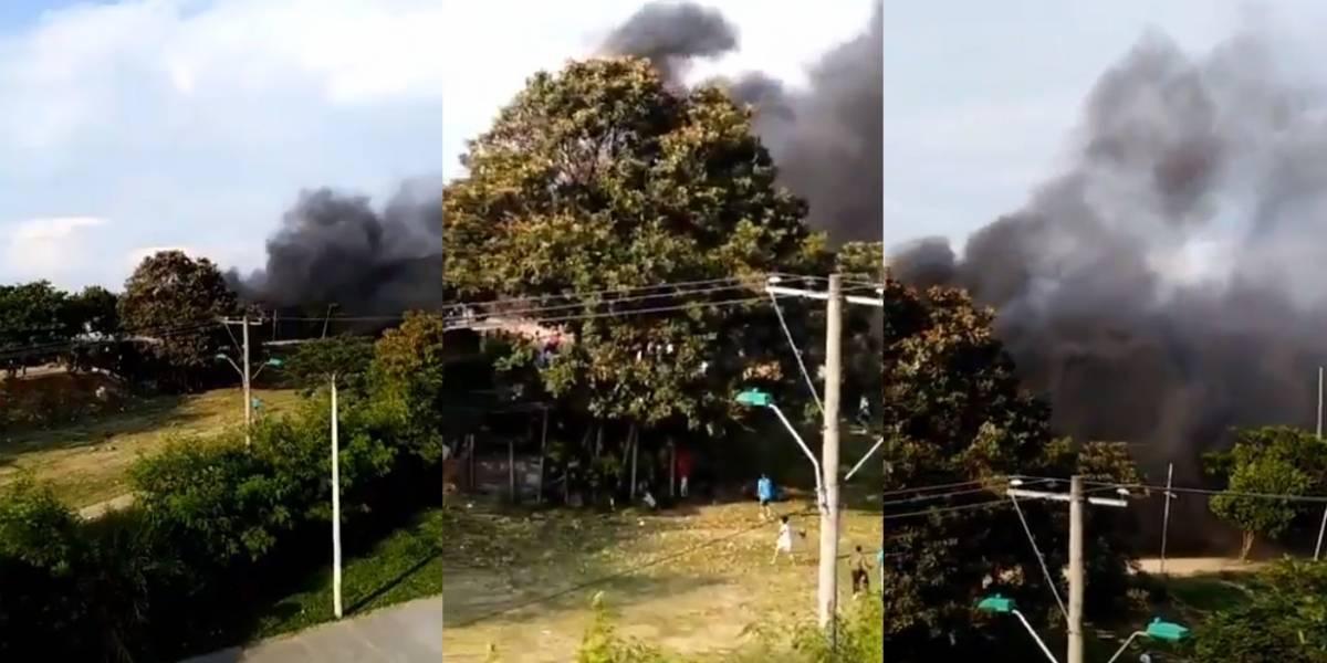 En Cali, salón social se incendió durante una fiesta infantil