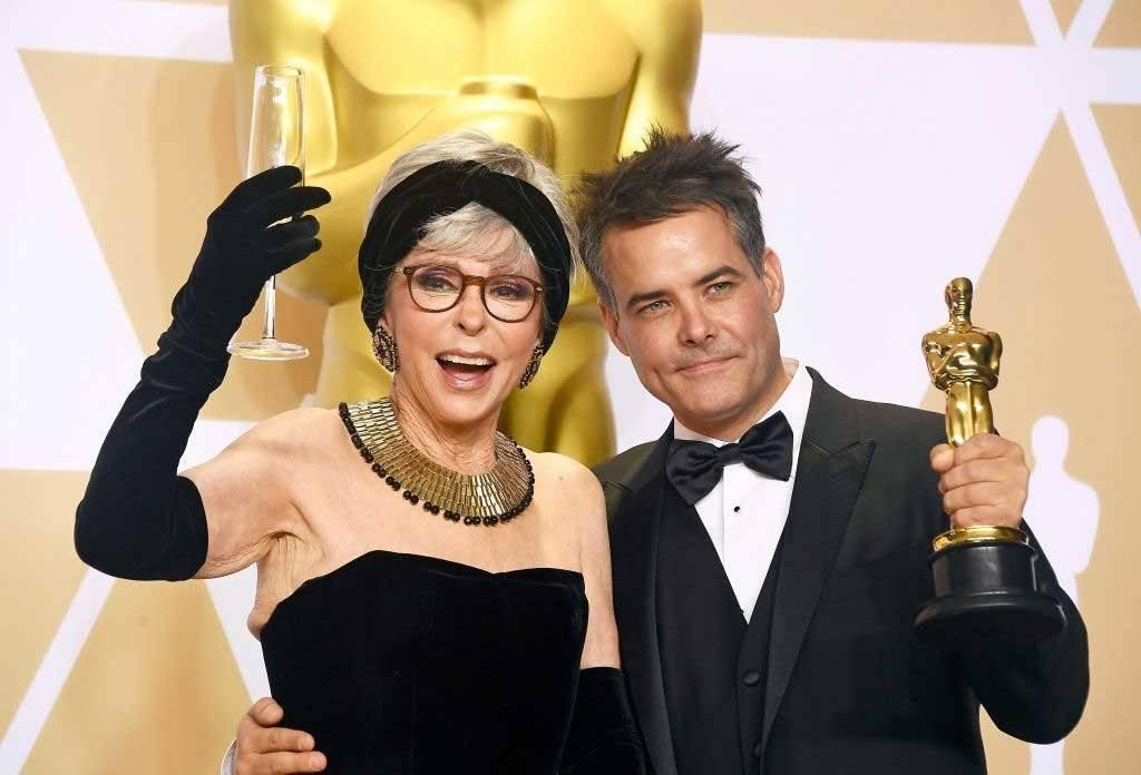 Rita Moreno e o diretor Sebastian Lelio