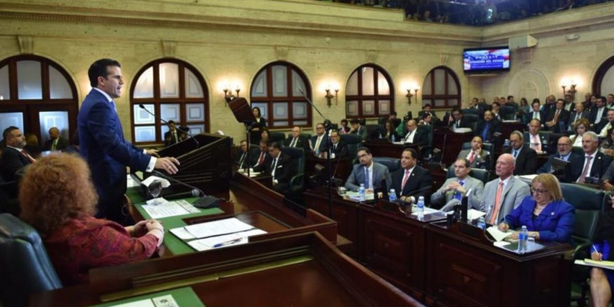 Cargado de promesas Ricardo Rosselló